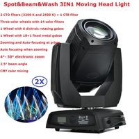 Newest 440W Gobo Moving Head Beam Wash Spot Lights 2 Gobo Wheels 2 Indexable Rotating Prisms Professional Stage Shows Equipments
