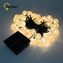 TSLEEN Outdoor Solar Panel Powered Light LED Garden Waterproof Home Christmas Wedding Path Party String Fairy Decoration Lamp