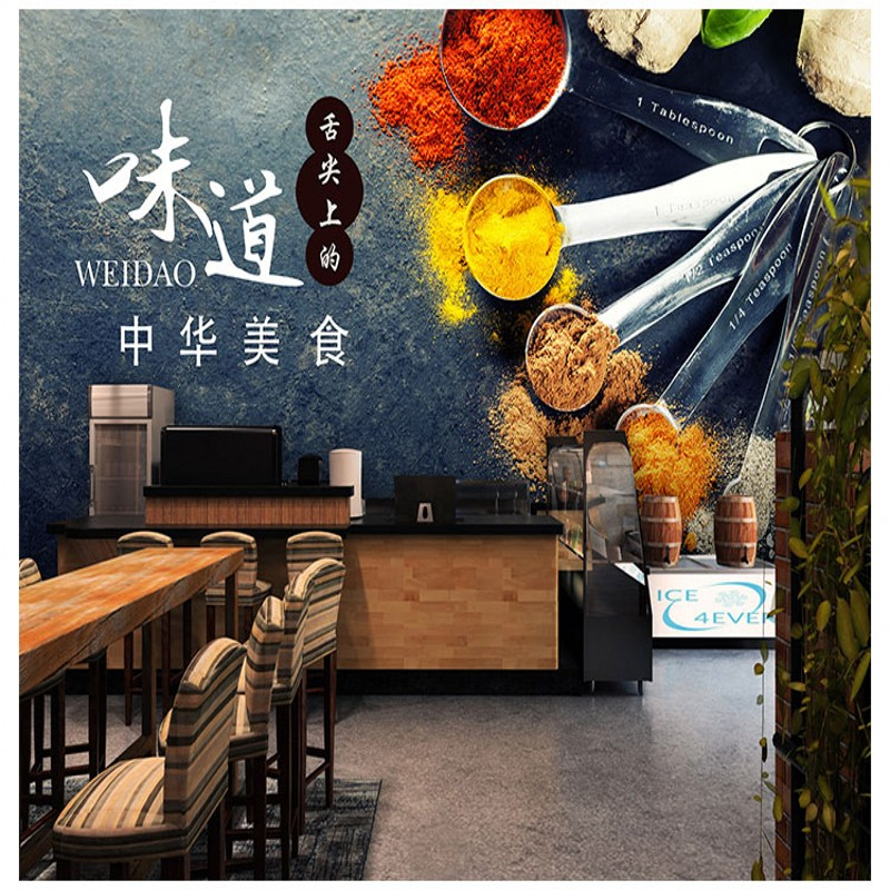 цены photo wallpaper Chinese Style Spicy Hot Pot Grill Shop Decoration Restaurant Hotel Wallpaper Korean Cuisine 3d stereo mural
