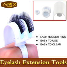 1set Lash Holder Ring for eyelash extension 1set U band lash holder/1set smart glue ring/1set o disk lashes makeup tool