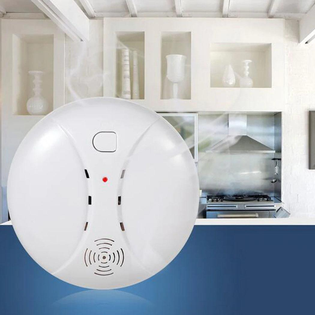 Wireless Security Smoke Alarm Detector Intelligent Home Indoor 10uA 40MA Fire 10% -90% RH Detection System