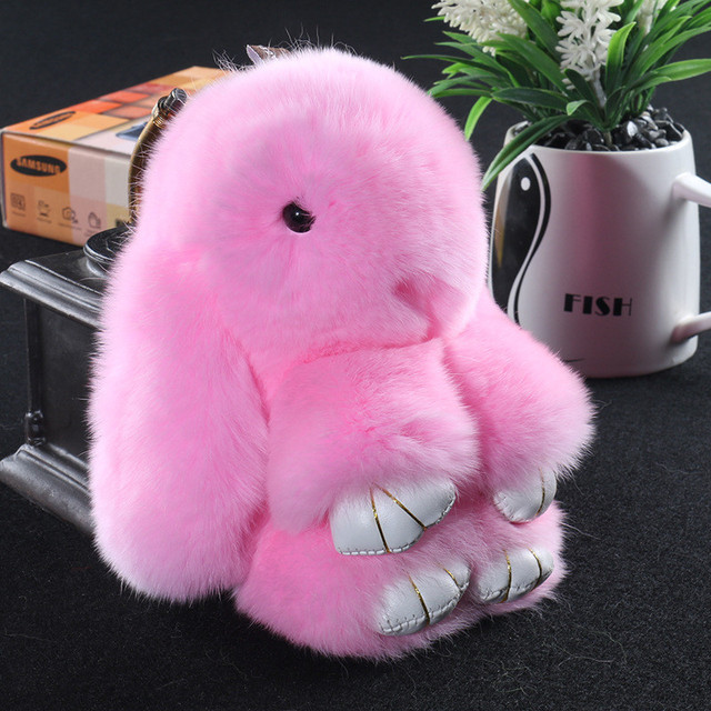 Rabbit Fur Bunny Cute Keychain
