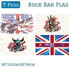 90X150CM 60*90cm Punk Rock  Flag For Music Bar Band Home Office 3x5ft Banner Polyester огромный российский флаг 3x5ft 90x150cm из россии