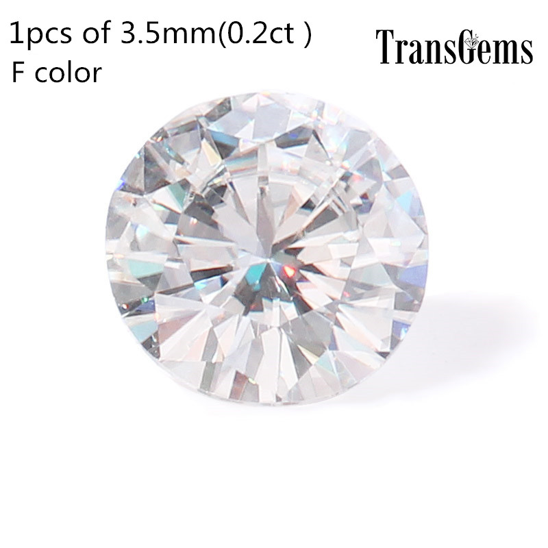 Lab grown diamond 3.5mm 0.2ct F Color round brilliant cut moissanites loose stone beads for jewelry making