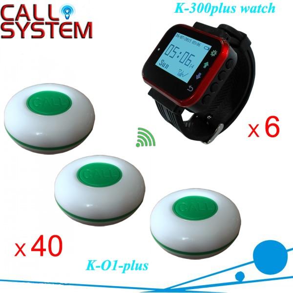 Bistrot D'appel Numérique Système de Serveur 6 pièces montre horloge 40 pièces bouton de table pour les clients sans fil système de son