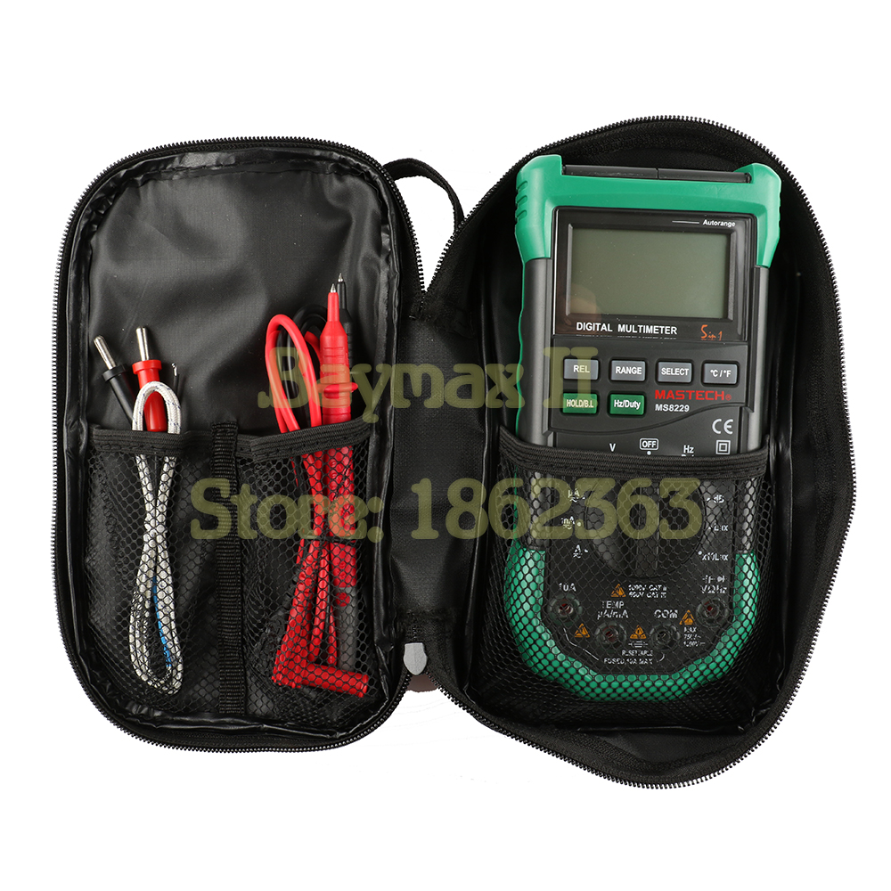 Image 5 - UNI T Black Canvas Bag for UNI T Series Digital Multimeter ,also Suit for The Other Brands Multimeter-in Instrument Parts & Accessories from Tools