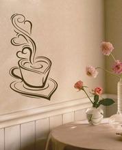 Decorativo arte adesivos de parede do Café Da Cozinha-Delicioso café Canecas de Café pintura mural da parede decoração Da Parede do Vinil Decalques