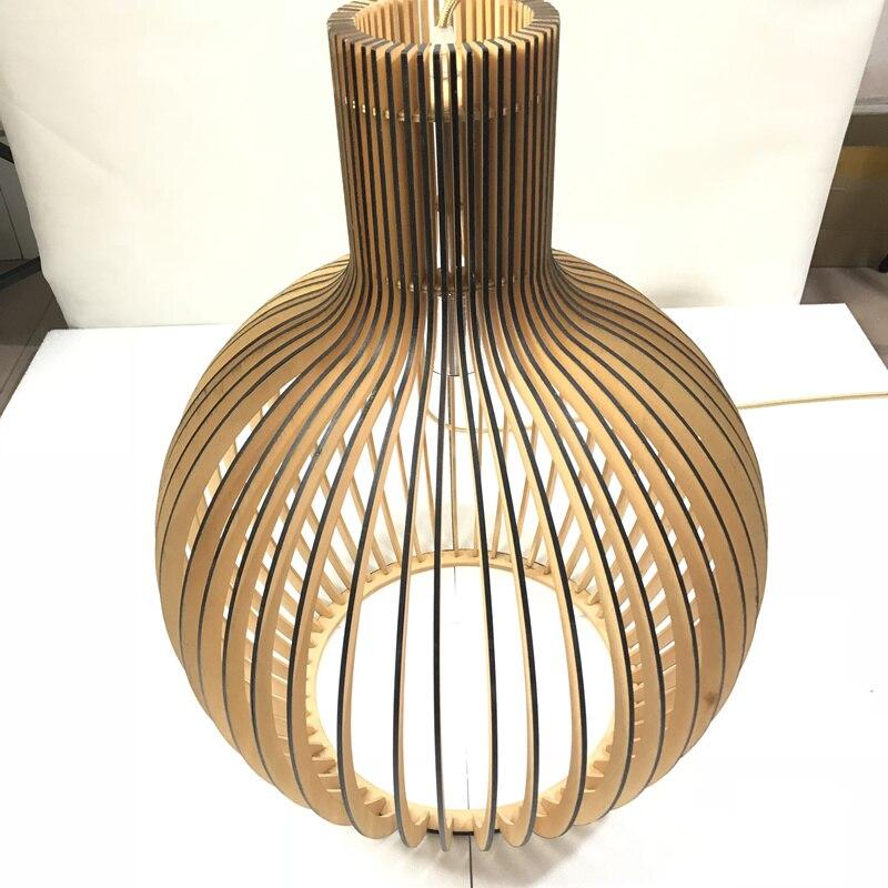 Moderne Schwarz Holz Vogelkafig E27 Gluhbirne Anhanger Licht Norbic