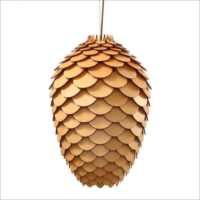 OAK Wood Artichoke Pendant Lights