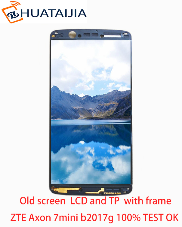 5.2 inch nuevo AMOLED LCD para ZTE axon 7 mini b2017 b2017G pantalla LCD completa + pantalla táctil digitalizador piezas de montaje + marco