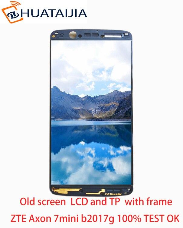 5,2 zoll brandneuen LCD-Amoled Für ZTE Axon 7 mini b2017 b2017G Voll lcd display + touchscreen Digitizer montageteile + rahmen