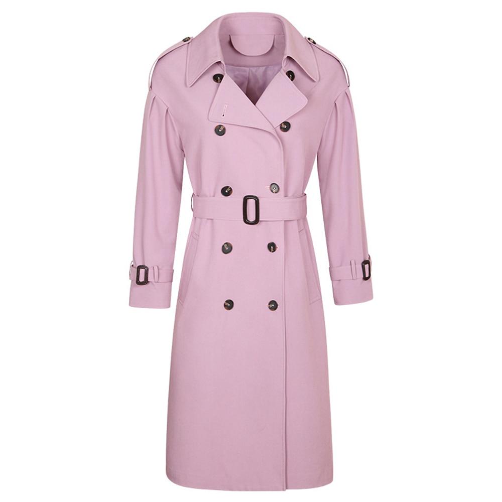Bayan Style Pour Manteau Womanautumn Kaban Tranchée Womancloak 8a5008 Imprimer Manteaux Casaco Rétro Pardessus Mode Longue Britannique Rose Pink Uq4HY