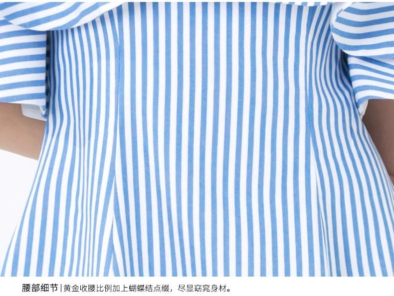 Robe D'été La Femme Courte Volants Blue White Striped Femmes Ete Mini Manches Slash Maxza 2019 Cou Rayé Bretelles Soirée Nouveauté À wggqExtZnr