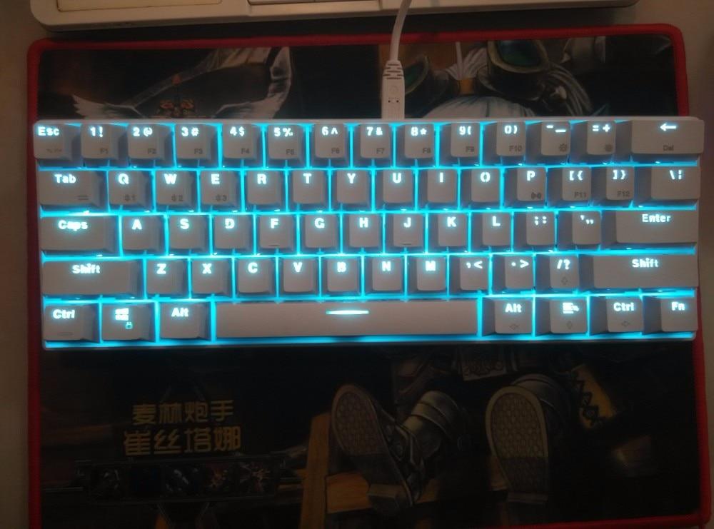 RK61 Keyboard Bluetooth Cherry Mx Blue Rk 61 Mini Wireless  Backlit Mechanical Keyboard Poker Layout Game