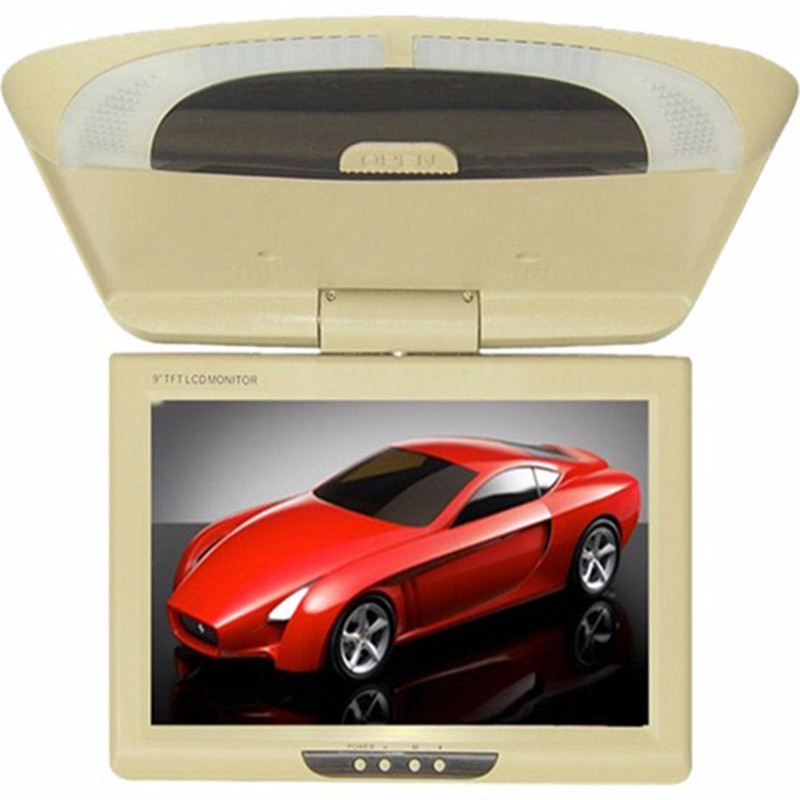 ФОТО 9 Inch Car Monitor  Roof Mount LCD Color Flip Down DVD Screen Overhead Multimedia Video Ceiling mount Display