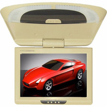 9 Inch Car Monitor Roof Mount Car LCD Color Monitor Flip Down DVD Screen Overhead Multimedia Video Ceiling Roof mount Display(China (Mainland))