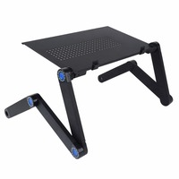 Shellhard Adjustable Laptop Table Folding Portable Laptop Netbook Computer Office Table Desk Stand Tray Home Furniture