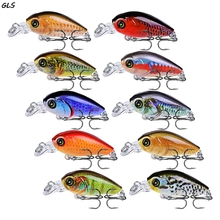 1pcs/lot Fishing Lures 47mm 4g Artificial Japan Hard Crank Bait  with Treble Hook Tackle