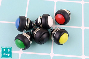 Image 2 - 6Pcs PBS 33b 2Pin Mini Switch 12mm 12V 1A Waterproof momentary Push button Switch since the reset Non locking
