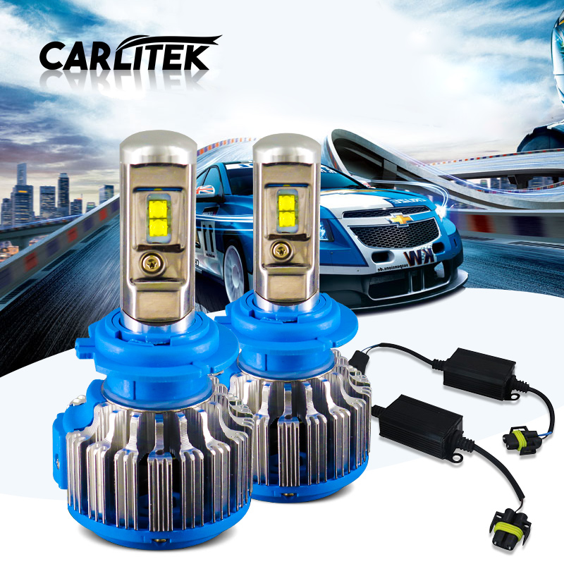 H4 Hi/Lo H7 H11 9005 9006 LED Car Headlights 72W 7000ML High Brightness Auto <font><b>Lights</b></font> <font><b>Conversion</b></font> Kit Fan Canbus cancell One pair