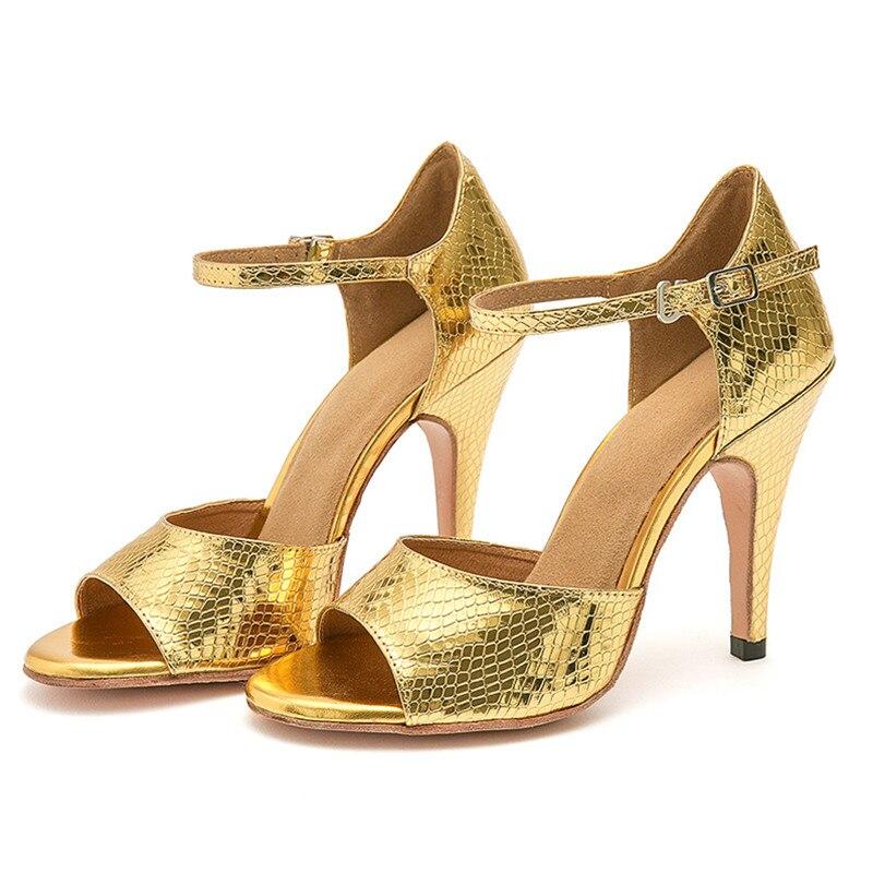 USHINE YC02 EU33-41 talon 8.5 cm professionnel noir rouge bleu or dur vache cuir semelle valse argentine Tango chaussures femme
