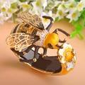 MECHOSEN Unique Enamel Esmalte Bees Bangles AAA Zircon Pulseira Masculina Copper Crystal Insect Bileklik Luxury Jewelry With Box