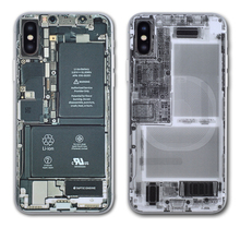 X-ray and Circuit Board Camouflage Clear Back Film for iphone X DIY Stickers for Apple iphone 10 Full Back Conner Protection dental barrier envelopes dental bags for x ray film 0 1 2 x ray film bags dental consumables materials sl453