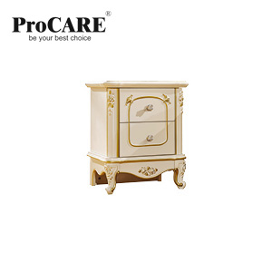 купить luxury European and American style bedroom furniture rose series french Bedside Cabinets/table With Gold по цене 8567.69 рублей