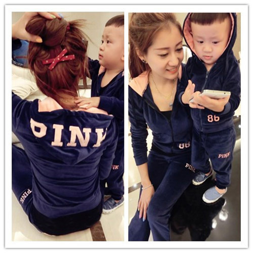 2017 autumn winter spring active pants mother and daughter clothes matching family clothing sets family look