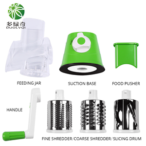 Image 4 - Manual Vegetable Cutter Slicer Kitchen Tool Multi functional Round Mandoline Slicer Potato Cheese