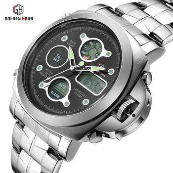Men Luxury Electronic LED Digital And Analog Wristwatch 1