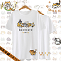 Neko Atsume Short Sleeve Blusa Peplum Tops Tee Summer T-shirt Lolita Kawaii Clothes Cat Cute Harajuku Shirt