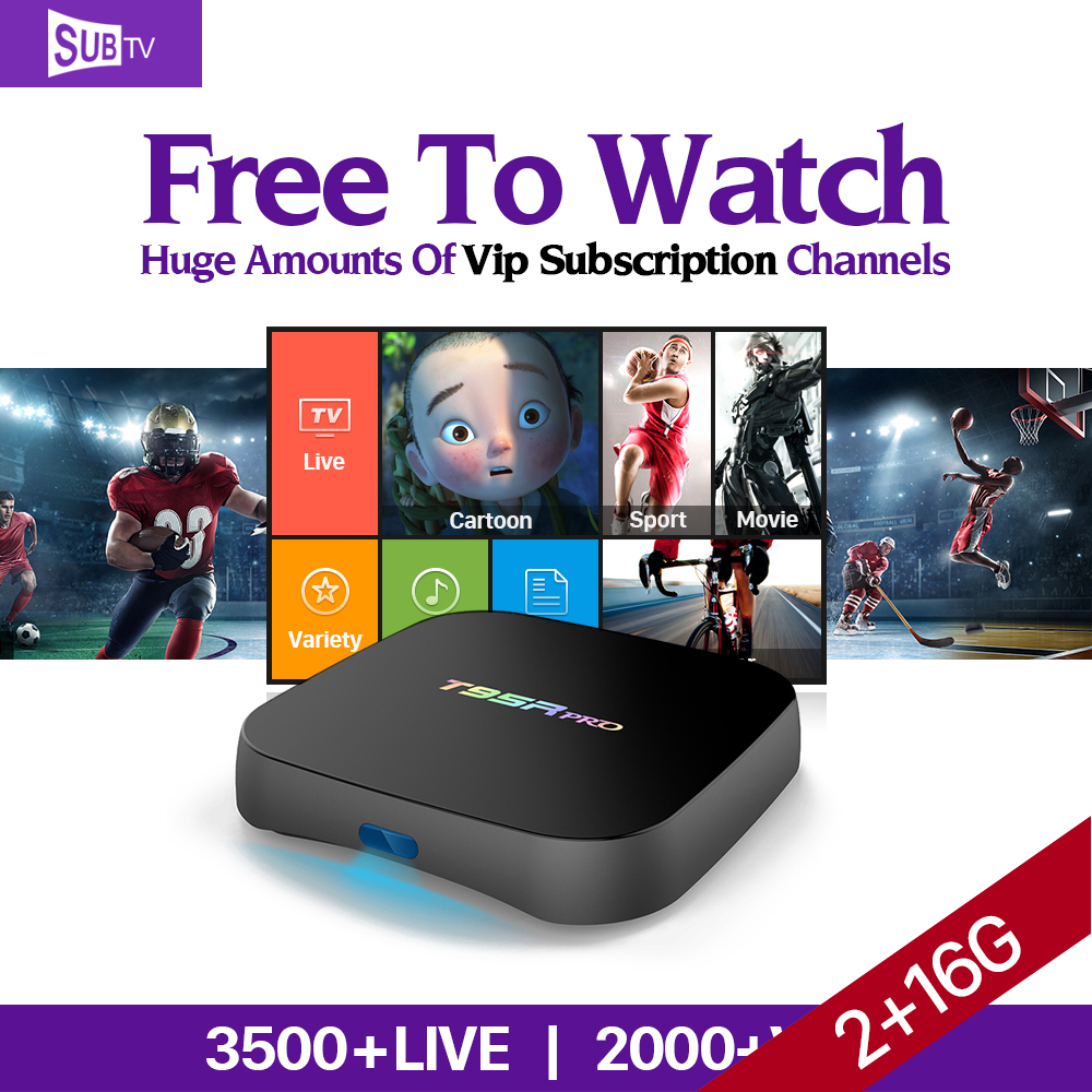 Dalletektv T95Rpro 2G 16G Android 6.0 Smart TV Box S912 4K Media Player Europe Arabic Subtv Account 3500 IPTV Channels медиаплеер merlin 4k android media hub