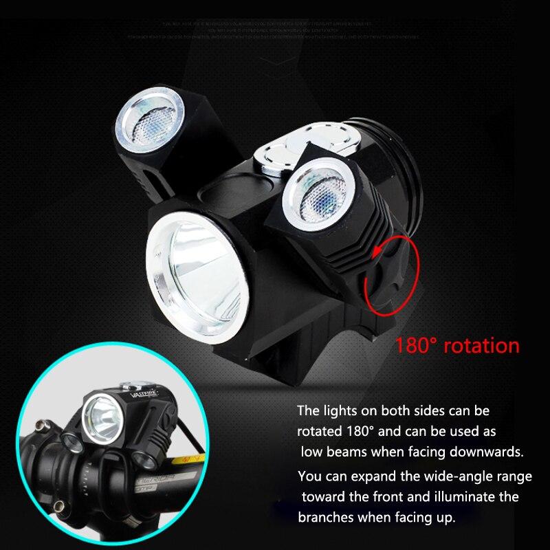 Lumière Vélo DEL Super Bright Head Light Projecteur Sports Camping Pêche Lumière