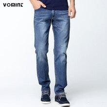 Vomint Мода 2017 г. мужчин эластичные джинсы мужские повседневные дизайнерские джинсы Slim Regular Fit Straight высокое качество (без ремня) S6CJ085(China (Mainland))
