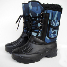 ARCTIC TRACKS Brand Autumn Winter Warm men fashion snow boots military fishing skiing waterproof simple casual mid-calf shoes