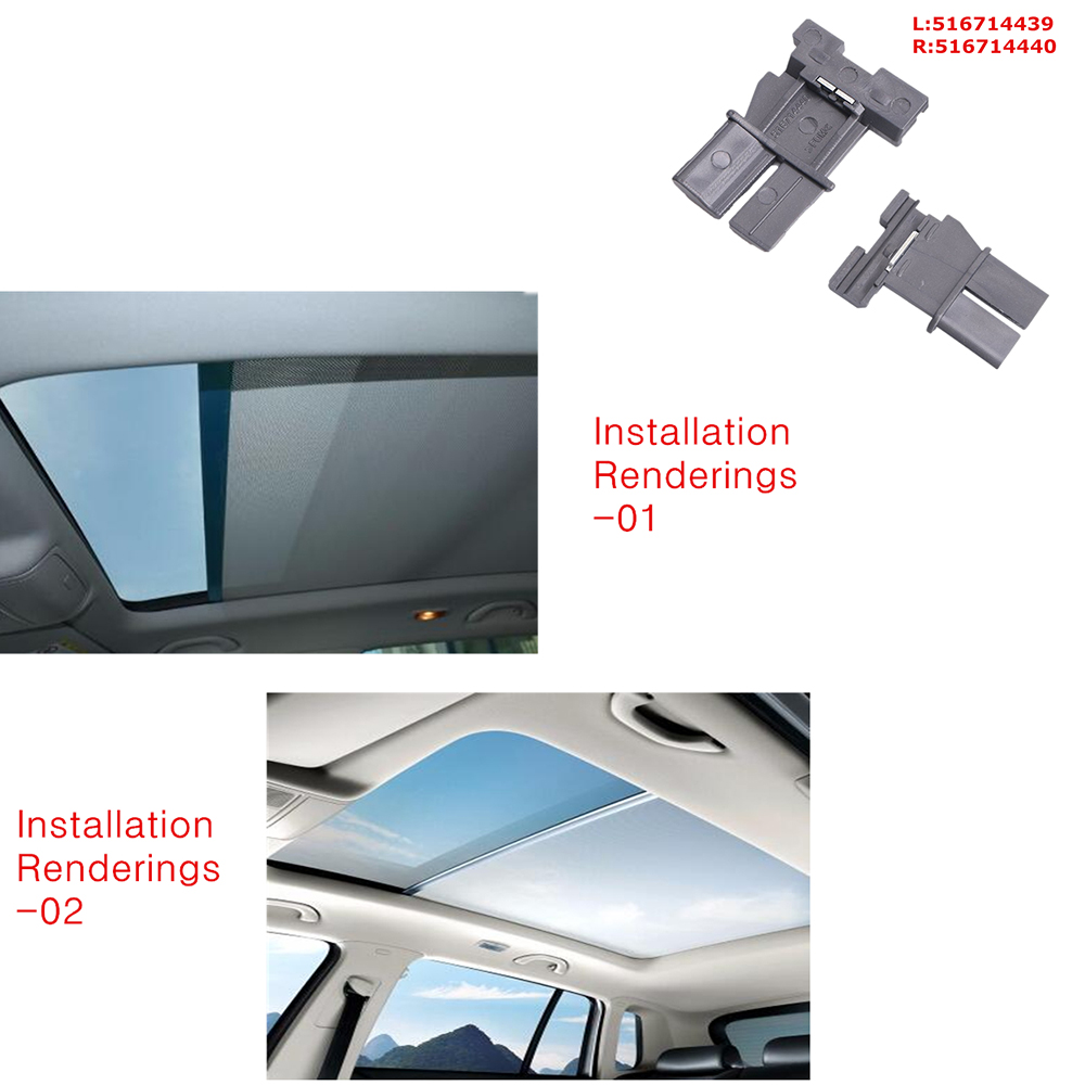 US $41 01 7% OFF|1K9877307A 5ND877307 Skylight shutter Sunroof sunshade  curtain for VW Sharan New style Tiguan For Audi Q5-in Sun Visors from