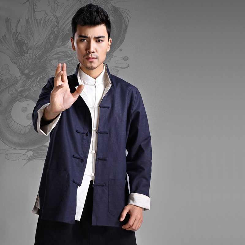 繁体字中国語服男性のための男性上海唐装服マンダリンカラー冬のコートの男性 2018 TA194