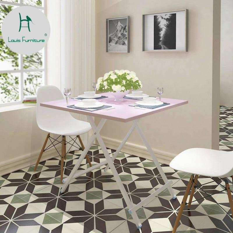 Louis Fashion Table Mini Multifunctional Folding Small Apartment 2 Folding Rectangular Household Economical Type