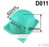 62x48mm cabezal de almohadilla de goma de silicona para máquina de impresión de almohadilla de impresora de base de madera