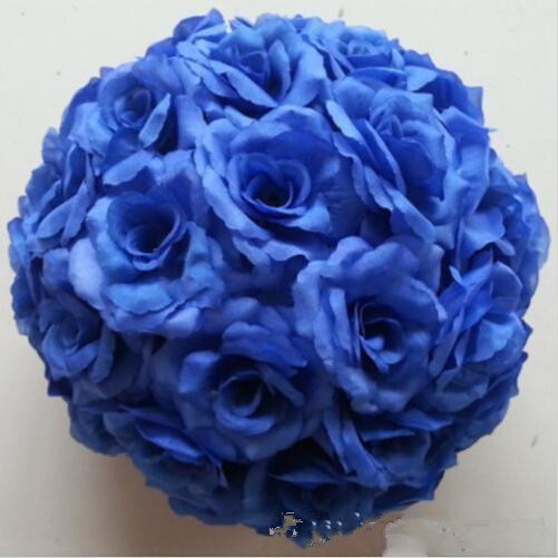 Dark blue artificial rose silk flower ball hanging kissing balls dark blue artificial rose silk flower ball hanging kissing balls 30cm ball for wedding party decoration supplies in artificial dried flowers from home mightylinksfo