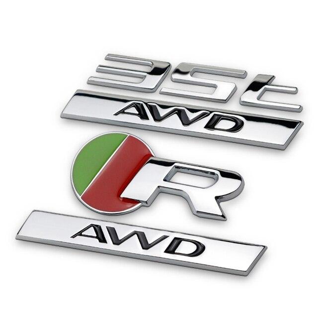 Styling Car 3d Metal R Rs Emblem Badge Logo Stickers For Jaguar Xf