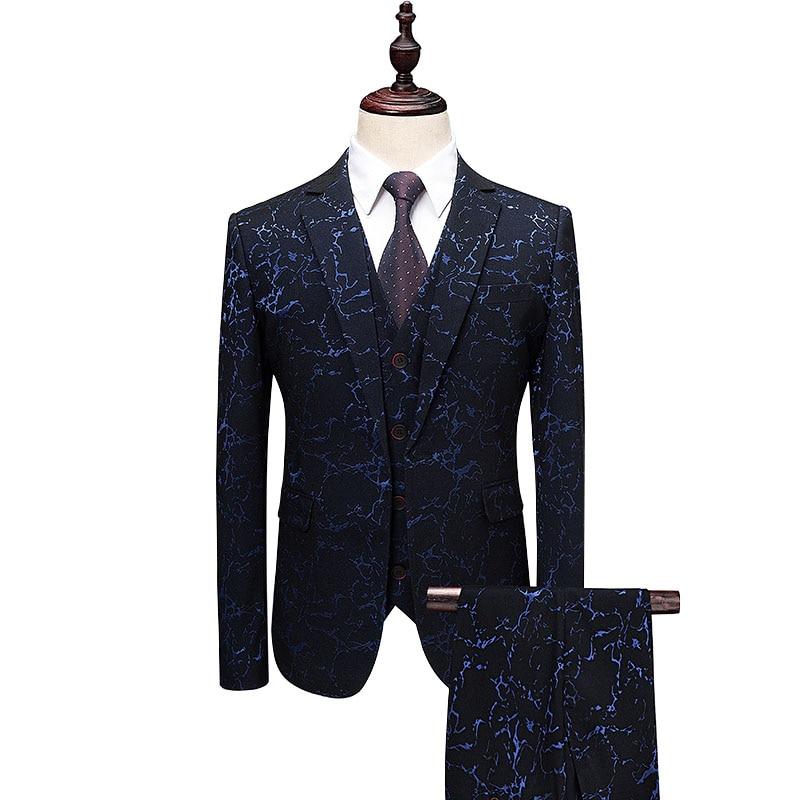 Costumes Hombre De Homme Pièces Mariage Taille Floral Trajes Costume Blazer Masculino Plus 3 J3l5TFKcu1