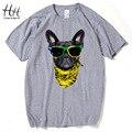 HanHent Perro Camisetas de moda 2016 Nuevos Hombres de La Manera 3D Animal Lindo de Impresión camisetas Moderna Fresca de Manga Corta camiseta Hombre