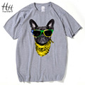 HanHent vogue Dog Tees 2016 New Fashion Men Cute Animal 3D Printing t-shirts Modern Short Sleeve Cool T shirt Man