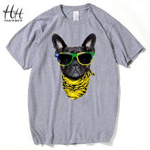 HanHent vogue Dog Tees 2016 New Fashion Men Cute Animal 3D Printing t-shirts Modern Short Sleeve Cool T shirt Man