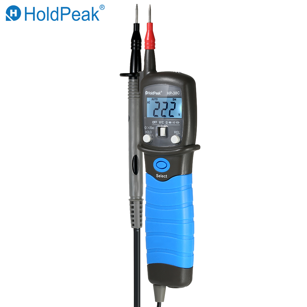 HoldPeak di Alta Precisione Auto-range LCD Tipo di Penna Multimetro Digitale DC/AC Tester di Tensione di Resistenza di Capacità del Diodo Tester