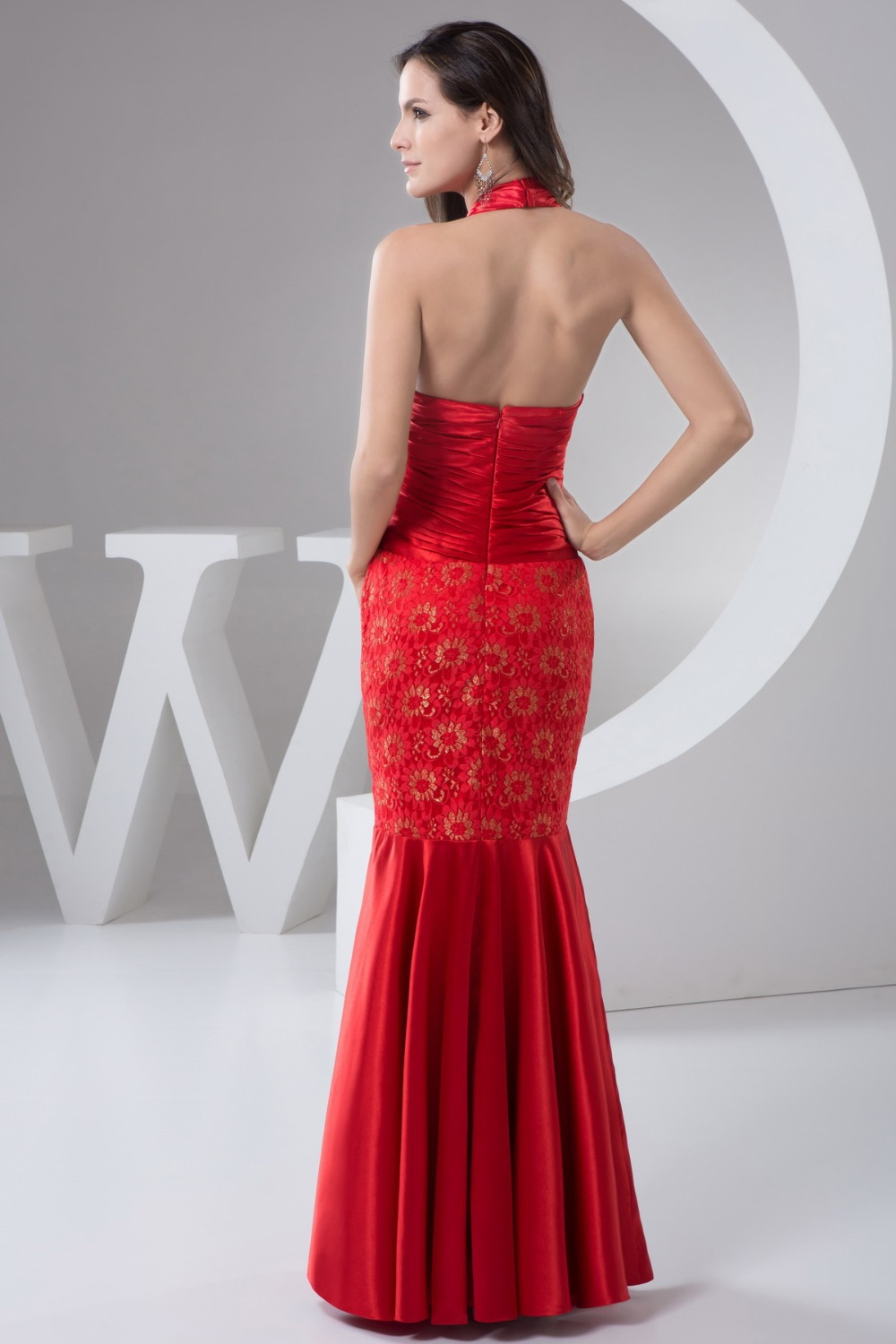 evening dress long cheap with red lace,Floor length sexy long evening dress