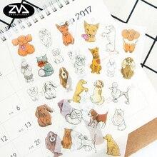 6pcs/lot Puppy paper sticker DIY decoration sticker for album scrapbooking diary kawaii  office School Supplies stationery недорого