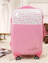 Polka dot20 24 trolley luggage pink universal wheels female 28 travel bag luggage lock,abs pink universal wheel luggage sets